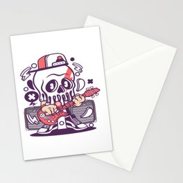 Rock Skullfor animated characters comics and pop culture lovers Stationery Cards