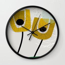 Scandinavian Fall florals Wall Clock