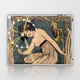 Italian art nouveau street gas lighting ad Laptop & iPad Skin