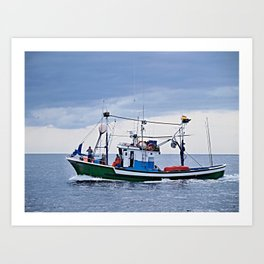 Traditional fishing boat off Tenerife in the Canary Islands Art Print