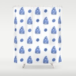 Spacing Pinecones Shower Curtain