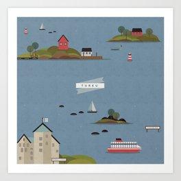 Turku Archipelago Art Print