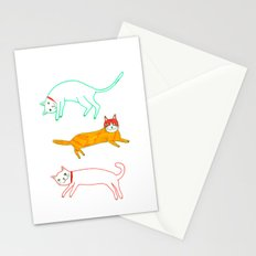 Lying cats Stationery Cards