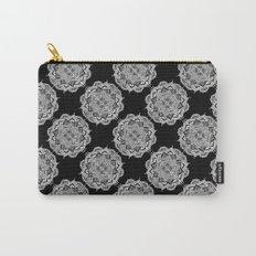Mandala Tiles Noir Carry-All Pouch