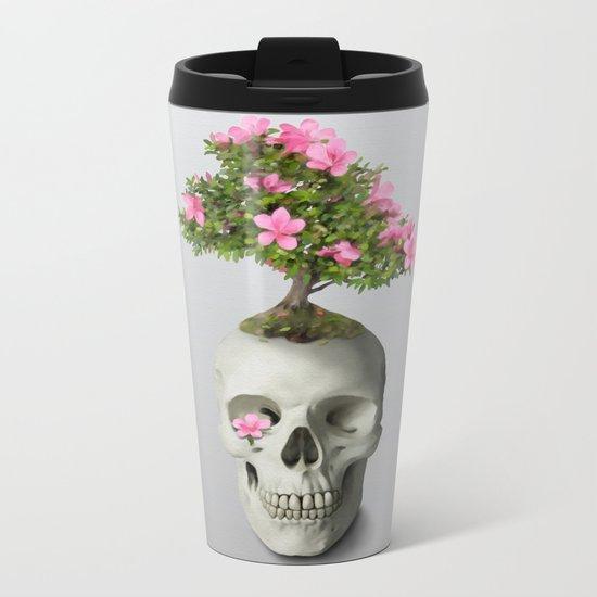 Bonsai Skull Metal Travel Mug