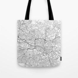 Glasgow Map Line Tote Bag