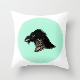 The Vulture. Throw Pillow
