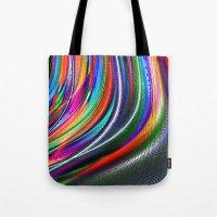 aurora Tote Bags featuring Aurora by David  Gough
