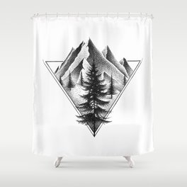 NORTHERN MOUNTAINS II Shower Curtain