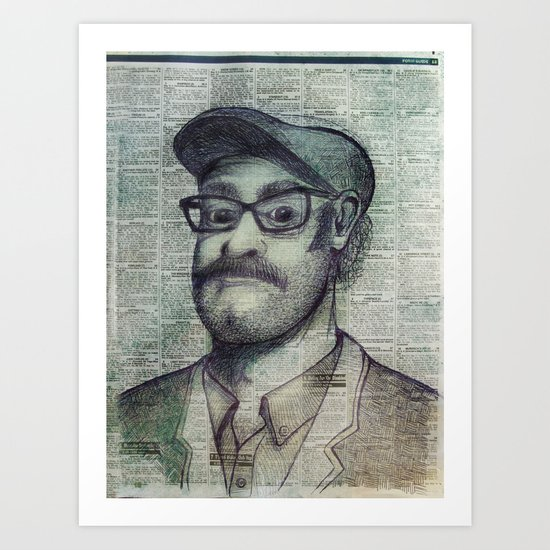 the punter Art Print
