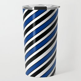 TEAM COLORS 1…Black, navy and white team  colors Travel Mug