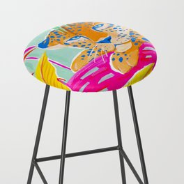 Vibrant Jungle Bar Stool