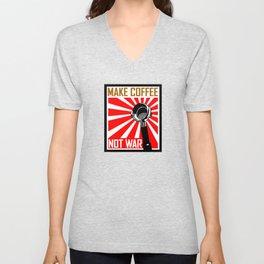 Japanese Propaganda Coffee Poster Unisex V-Neck