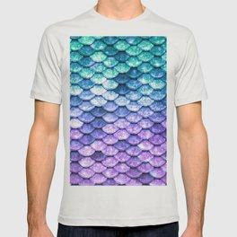 Mermaid Ombre Sparkle Teal Blue Purple T-shirt