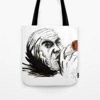 cigarette Tote Bags featuring Cigarette by Anna Pietrawska