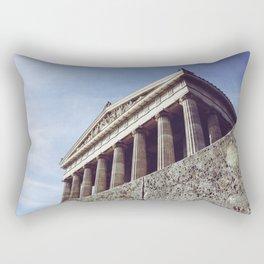 Columns structure in Parthenon Athens Greece Rectangular Pillow