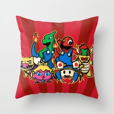 Mariomon Throw Pillow