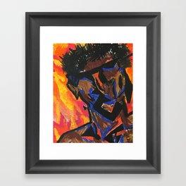 outside myself Framed Art Print