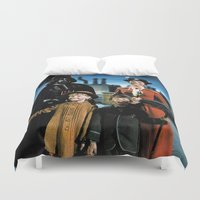 mary poppins Duvet Covers featuring Darth Vader in Mary Poppins by Luigi Tarini
