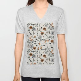 Floral pattern Flowers Unisex V-Neck