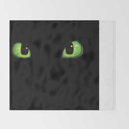 Toothless Stare Throw Blanket