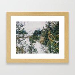 Traveling through the park Framed Art Print