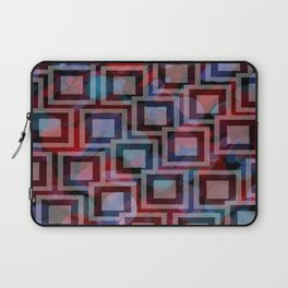 Black and White Squares Pattern 01 Laptop Sleeve