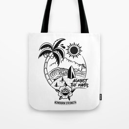 Against the Waves Tote Bag