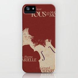 Gerard Depardieu,Tous les Matins du Monde, French Movie Poster, Alain Corneua, Jean-Pierre Marielle iPhone Case