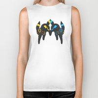 umbreon Biker Tanks featuring Umbreon Duo by Kurew Kreations