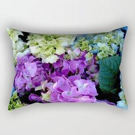 Colorful Flowering Bush Rectangular Pillow