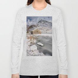 Frozen Lake Snowdonia Long Sleeve T-shirt