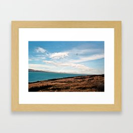 Rainbow over Lake Pukaki Framed Art Print