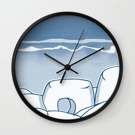 In Paradise Labyrinth Andre Bloc Wall Clock