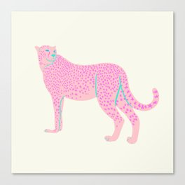 PINK STAR CHEETAH Canvas Print