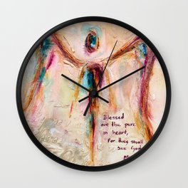 With Honesty Wall Clock