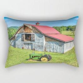 Hayesville Barn And Tractor Rectangular Pillow