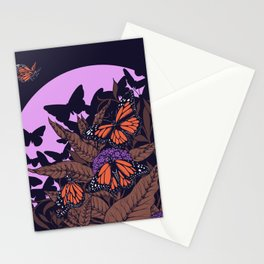 monarchs and milkweed Stationery Cards