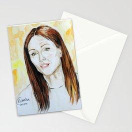 Julianne Moore Portrait Stationery Cards