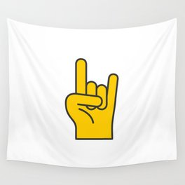 Hans Gesture - The Horns Wall Tapestry