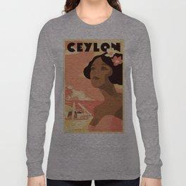 Vintage poster - Ceylon Long Sleeve T-shirt