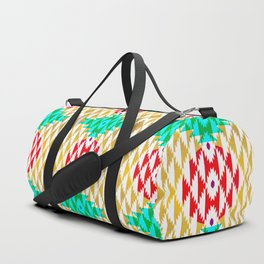 050 - traditional pattern interpretation with golden foil Duffle Bag