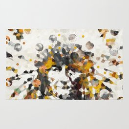 Modern Yellow Native American Indian Chief Rug
