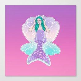 Mermaid Gradient Canvas Print