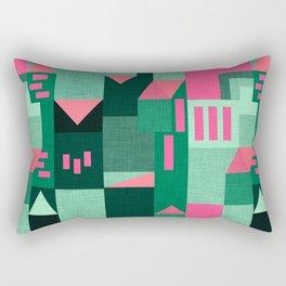 Green Klee houses Rectangular Pillow