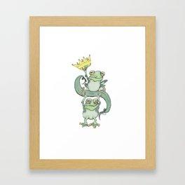 King Frog Framed Art Print
