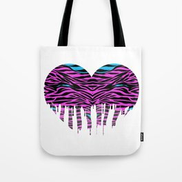 Stripes heart two Tote Bag