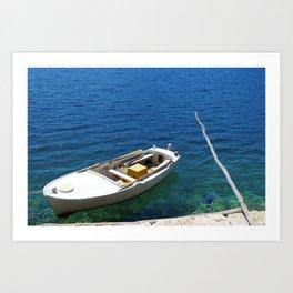 Croatian Rowboat Art Print