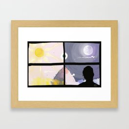 daynight Framed Art Print