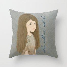 Portrait of Cosette from Les Misérables Throw Pillow